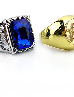 Jewelry Inspired by Black Butler Ciel Phantomhive Anime Cosplay Accessories Ring Golden Artificial Gemstones Male