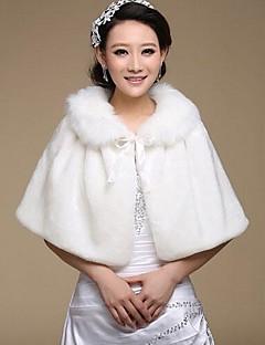 pels wraps faux fur varm bryllup sjal