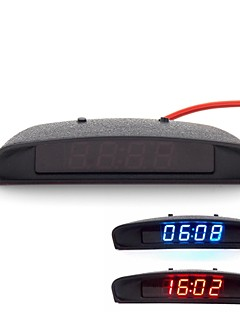 Original Car Interior Trim Appearance 3-In-1 Car Clock Theromometer and Voltage Monitor (12-24V)