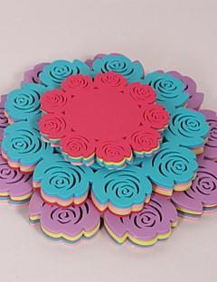 "(3PC/SET) Rose Shaped Antiskid Heat-resistant Silicone Cup Bowl Pan MATS 4"" x 1pc, 6.2"" x 1pc,8"" x 1pc(Color Random)"