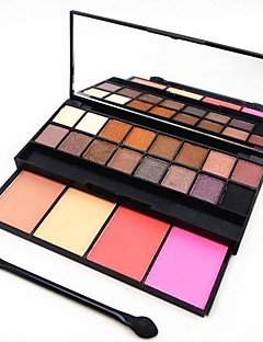 20 Color 2in1 16 Eye Shadow&4 Blusher Makeup Cosmetic Palette Drawer with Mirror&Sponge Applicator