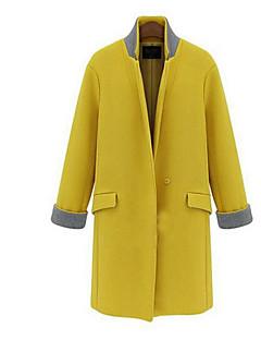 Коко Чжан женская лацкане шеи Bodycon западная стиль пальто