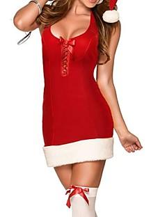 Cosplay Kostüme Santa Anzüge Fest/Feiertage Halloween Kostüme Rot Patchwork Rock Weihnachten Frau Elasthan / Polyester