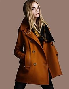 ssmn kvinders tweed langærmet figursyede frakke