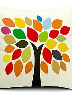 multicolore coton arbre / linge taie d'oreiller décoratif