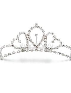 Dame/Blomsterpige Legering/Kubisk Zirkonium Headpiece Bryllup/Spesiell Leilighet/Utendørs Diademer Bryllup/Spesiell Leilighet/Utendørs