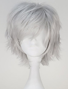 Tokyo Ghoul Kaneki Ken Short Straight Silvery Grey Color Anime Cosplay Wig