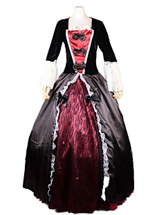 Gorgeous Queen of the Damned with Bow & Lace Satin & Flannel Halloween Costume