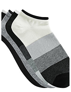 4 Pairs Of Cotton Stripe Ankle Socks