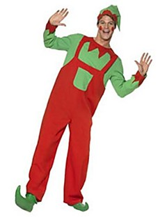 Happy Clown Spirit Suit Red and Green Adult Men's Christmas Costume