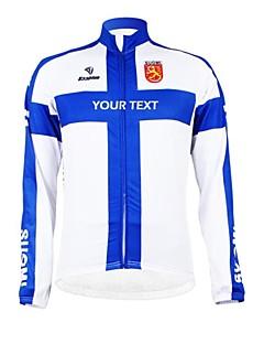 KOOPLUS® ג'קט לרכיבה לנשים / לגברים / יוניסקס שרוול ארוך אופנייםנושם / שמור על חום הגוף / בטנת פליז / רוכסן עמיד למים / לביש / רצועות