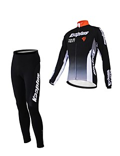Kooplus Calça com Camisa para Ciclismo Mulheres Homens Unisexo Manga Comprida Moto Camisa/Roupas Para Esporte Conjuntos de RoupasZíper á