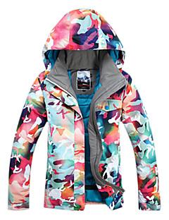 לנשים מעילי סקי/סנובורד סקי / החלקה / ספורט שלג / סנואובורד עמיד למים / נושם / לביש / עמיד / שמור על חום הגוף חורף כחול / Others / פוקסיה