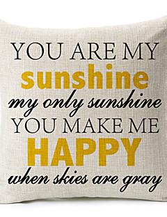 """""""Du är mitt solsken"""" bomull / linne dekorativa örngott"""