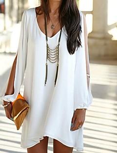 Women's Chiffon V-neck Casual Long Sleeve Dresses