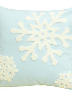 snö blå broderier 100% bomull dekorativa kuddöverdrag