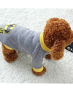 Cat / Dog Coat / Sweater Gray Dog Clothes Winter / Spring/Fall Classic / Cartoon Keep Warm