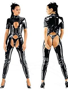 Cosplay Kostüme Uniformen Fest/Feiertage Halloween Kostüme Schwarz Gymnastikanzug/Einteiler Halloween Frau PVC