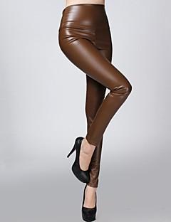 sagetech @ Frauen dehnbar edle weiße Leder Samt Hose (weitere Farben)