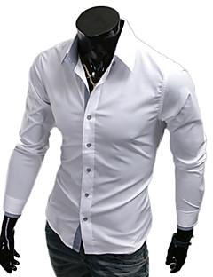 Männer Revers Hals einfarbigen Mantel Shirt