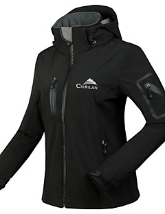 Cikrilan® Women Outdoor Softshell Jacket/Tracksuit/Tops Fleece Lining/Warm/Waterproof/High Breathability/Waterproof Winter/Autumn Camping & Hiking