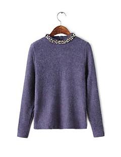 dámské ležérní kulatý límec bavlna svetr (více barev)