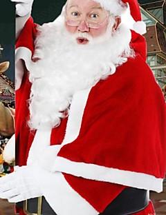 Cosplay Kostüme Santa Anzüge Fest/Feiertage Halloween Kostüme Mantel / Hosen / Umhang / Gürtel / Mützen Weihnachten Mann Korallenfleece