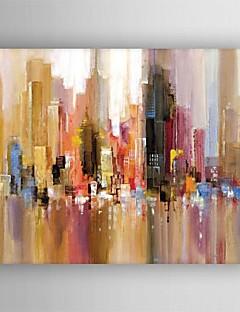 olieverfschilderij modern abstract landschap de hand beschilderd doek met gestrekte frame