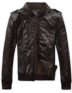 dibai pánská móda pro volný čas vybaveno kožený kabát