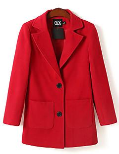 Кастиэль Барри женская новая двойная пряжка лацкан пальто шерсти