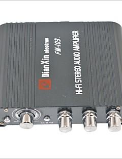 fm-103 stereot audio vahvistin FM-toiminto-musta