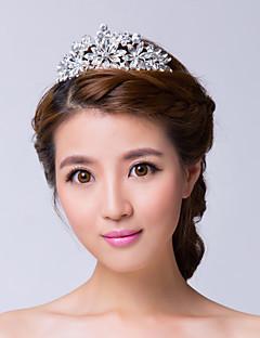 왕관 여성 웨딩/특별한날 라인석/합금 투구 웨딩/특별한날