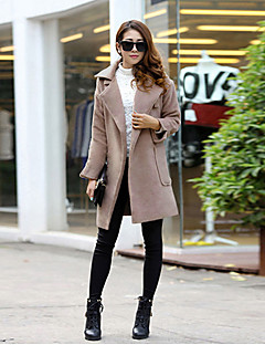 Maternity Long Coat , Casual Long Sleeve Cotton Blends