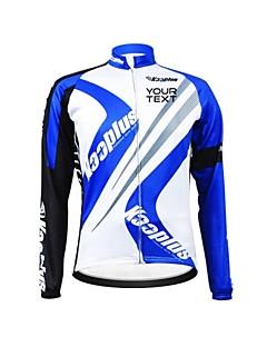 KOOPLUS® חולצת ג'רסי לרכיבה לנשים / לגברים / יוניסקס שרוול ארוך אופניים נושם / רוכסן עמיד למים / לביש / רצועות מחזירי אורמותאם אישית /