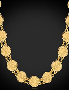 Dame Kort halskæde Kædehalskæde Vintage Halskæder Platin Belagt Guldbelagt Mode Sølv Gylden Smykker ForBryllup Fest Speciel Lejlighed