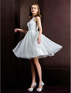 Lanting A-line/Princess Wedding Dress - Ivory Knee-length Bateau Tulle