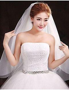 monistiska bröllop slöja med skuren kant