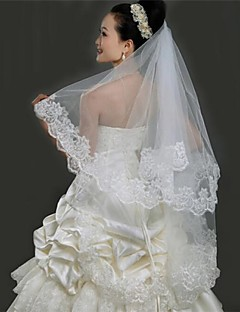 One-tier Tulle Fingertip Wedding Veils With Cut Edge(More Colors)