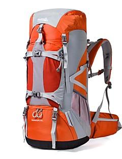 70 L Pacotes de Mochilas Mochila para Excursão Alpinismo Acampar e Caminhar Viajar Segurança Esportes de NeveProva-de-Água Á