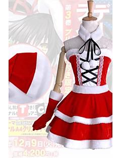 Inspireret af Date A Live Kurumi Tokisaki Anime Cosplay Kostumer Cosplay Kostumer Kjoler Patchwork Uden ærmerKjole Krave Handsker Mere
