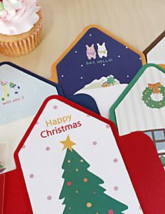 szép csíkos stílus karácsonyi kártya (5db)