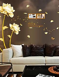 pegatinas de pared Tatuajes de pared, flores del estilo chino de pvc riqueza pegatinas de pared