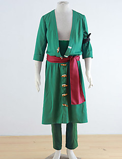 One Piece Roronoa Zoro Green polyesteri Cosplay Puku