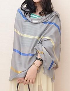 여성의 패션 스트라이프 긴 숄을 모두 일치 (더 많은 색상)