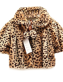 Girl's Leopard Jacket & Coat,Cotton Spring / Fall