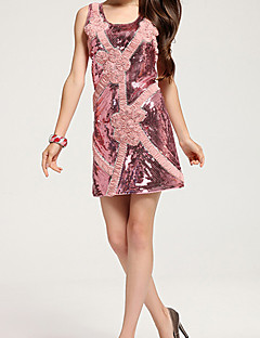 LMTS Women's Round Neck All Matching Floral Print Dress