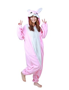 Kigurumi Pyjama  Konijn Gympak/Onesie Festival/Feestdagen Animal Nachtkleding Halloween Roze Patchwork Fleece Kigurumi Voor Unisex