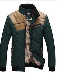 WAN pánské v kontrastní barvě stát krk dlouhý rukáv kabát