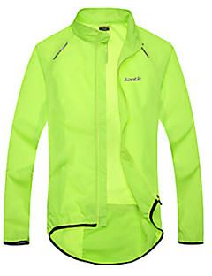 SANTIC Cykel/Cykling Solbeskyttende tøj / Jakke / Regnfrakke Dame / Herre / Unisex Langt ÆrmeVandtæt / Hurtigtørrende / Vindtæt /
