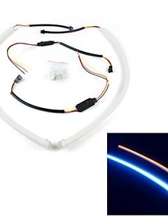 merdia 8w 200lm högpresterande ledde remsor ljus varselljus / dekoration ljus (vit och gul / 60cm)